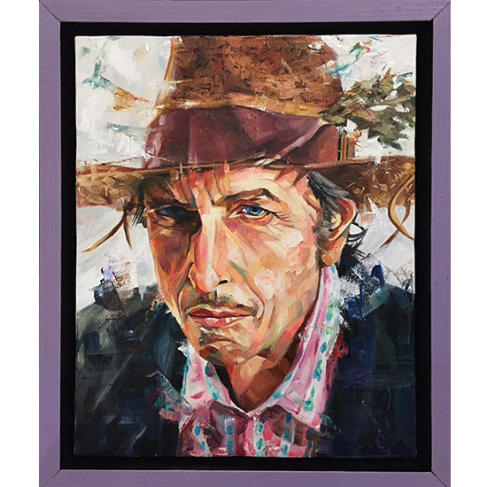 Bob dylan/Blowin' in the wind絵画